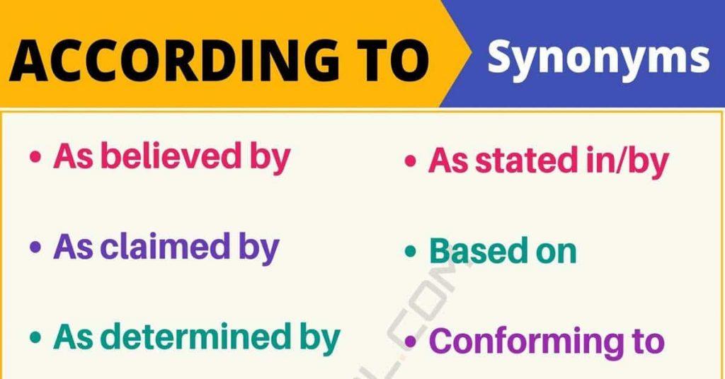 Cách dùng According to trong tiếng Anh