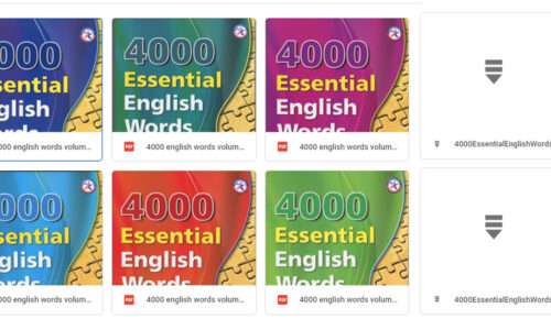 Tải trọn bộ sách 4000 Essential English Words [PDF+Audio]