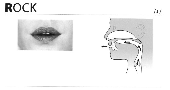 Khẩu hình miệng khi phát âm chữ R