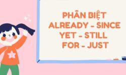 Phân biệt already - since - yet - still - for - just